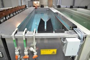 elektrisch beheizte Warmspüle mit automatischer VE-Wasserzuspeisung und Überlauf